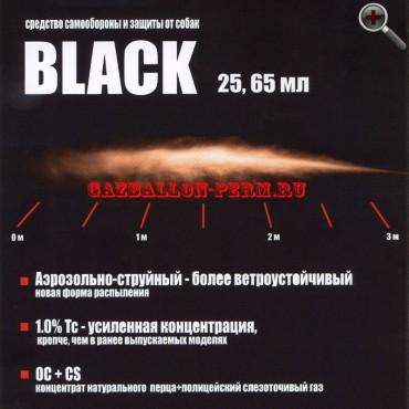 """Аэрозольно-струйный газовый баллончик """"Black"""" 65 мл."""